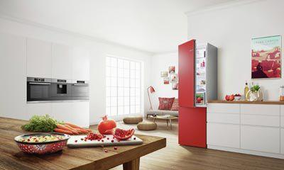 Bosch Kühlschrank Rot : Bosch vario style farbige fronten für ihren kühlschrank